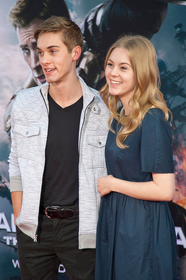 HOLLYWOOD, CA - MARCH 13: Actor Austin North and Lauren North arrive at Marvel's 'Captain America: The Winter Soldier' premiere at the El Capitan Theatre onThursday,  March 13, 2014 in Hollywood, California. (Photo by Tom Sorensen/Moovieboy Pictures)