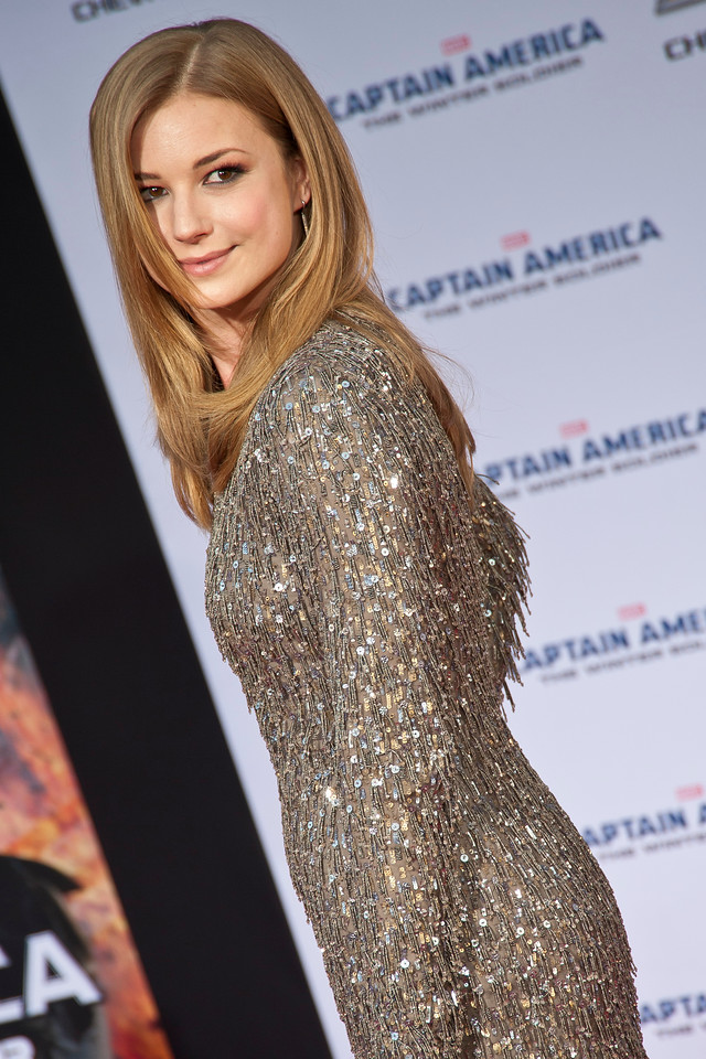 HOLLYWOOD, CA - MARCH 13: Actress Emily VanCamp arrives at Marvel's 'Captain America: The Winter Soldier' premiere at the El Capitan Theatre onThursday,  March 13, 2014 in Hollywood, California. (Photo by Tom Sorensen/Moovieboy Pictures)