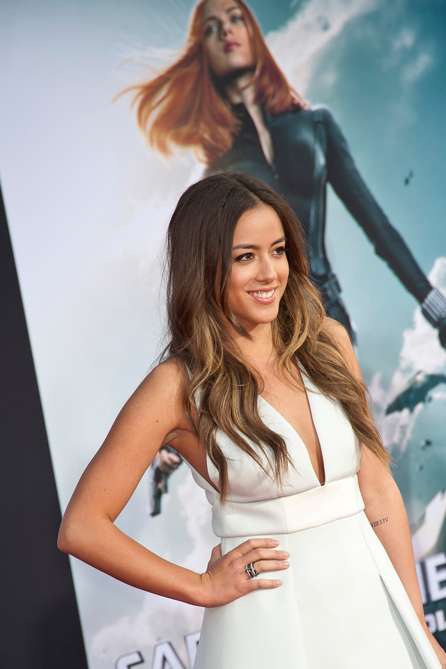 HOLLYWOOD, CA - MARCH 13: Actress Chloe Bennet arrives at Marvel's 'Captain America: The Winter Soldier' premiere at the El Capitan Theatre onThursday,  March 13, 2014 in Hollywood, California. (Photo by Tom Sorensen/Moovieboy Pictures)