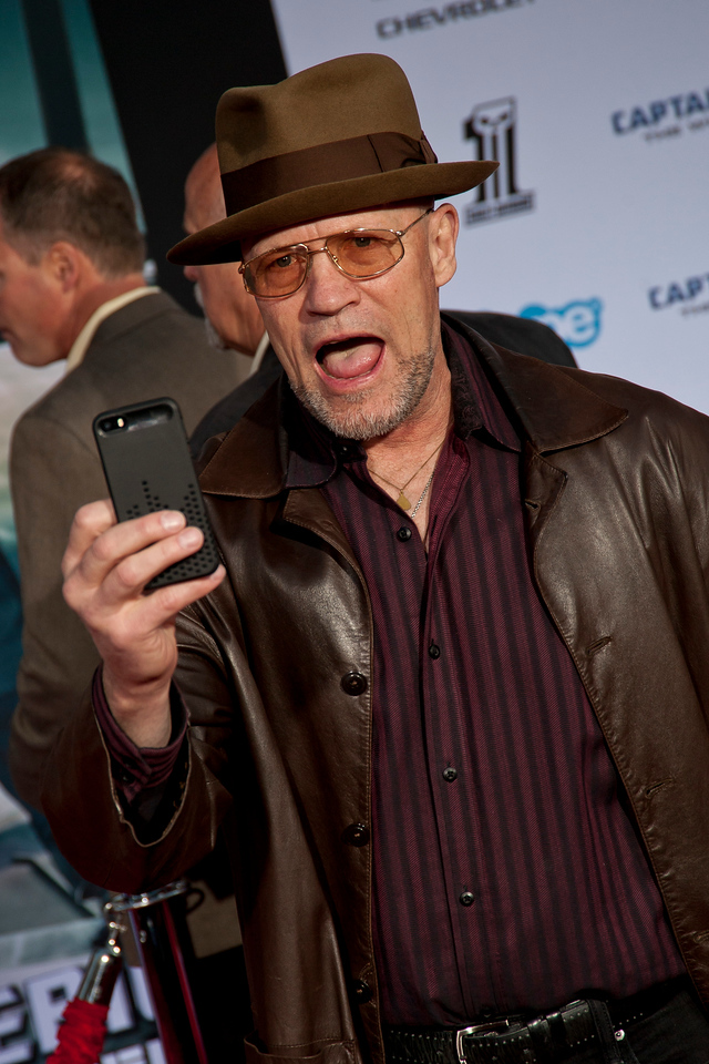 HOLLYWOOD, CA - MARCH 13: Actor Michael Rooker arrives at Marvel's 'Captain America: The Winter Soldier' premiere at the El Capitan Theatre onThursday,  March 13, 2014 in Hollywood, California. (Photo by Tom Sorensen/Moovieboy Pictures)