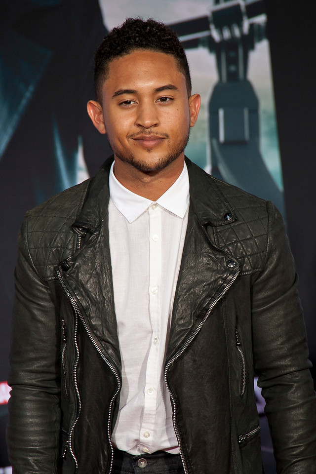 HOLLYWOOD, CA - MARCH 13: Actor Tahj Mowry arrives at Marvel's 'Captain America: The Winter Soldier' premiere at the El Capitan Theatre onThursday,  March 13, 2014 in Hollywood, California. (Photo by Tom Sorensen/Moovieboy Pictures)