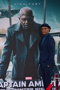 HOLLYWOOD, CA - MARCH 13: Actor Samuel L. Jackson arrives at Marvel's 'Captain America: The Winter Soldier' premiere at the El Capitan Theatre onThursday,  March 13, 2014 in Hollywood, California. (Photo by Tom Sorensen/Moovieboy Pictures)