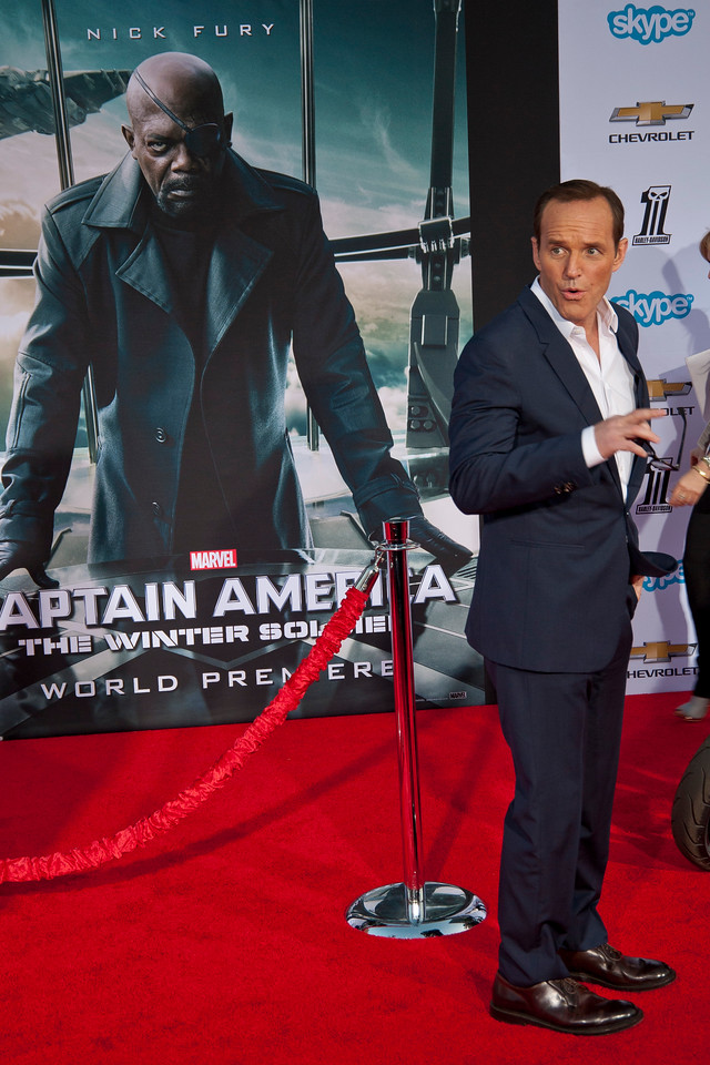 HOLLYWOOD, CA - MARCH 13: Actor Clark Gregg arrives at Marvel's 'Captain America: The Winter Soldier' premiere at the El Capitan Theatre onThursday,  March 13, 2014 in Hollywood, California. (Photo by Tom Sorensen/Moovieboy Pictures)