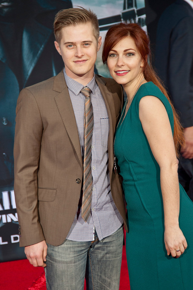 HOLLYWOOD, CA - MARCH 13: Actor Lucas Grabeel and guest arrive at Marvel's 'Captain America: The Winter Soldier' premiere at the El Capitan Theatre onThursday,  March 13, 2014 in Hollywood, California. (Photo by Tom Sorensen/Moovieboy Pictures)