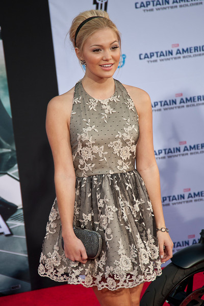 HOLLYWOOD, CA - MARCH 13: Actress Olivia Holt arrives at Marvel's 'Captain America: The Winter Soldier' premiere at the El Capitan Theatre onThursday,  March 13, 2014 in Hollywood, California. (Photo by Tom Sorensen/Moovieboy Pictures)