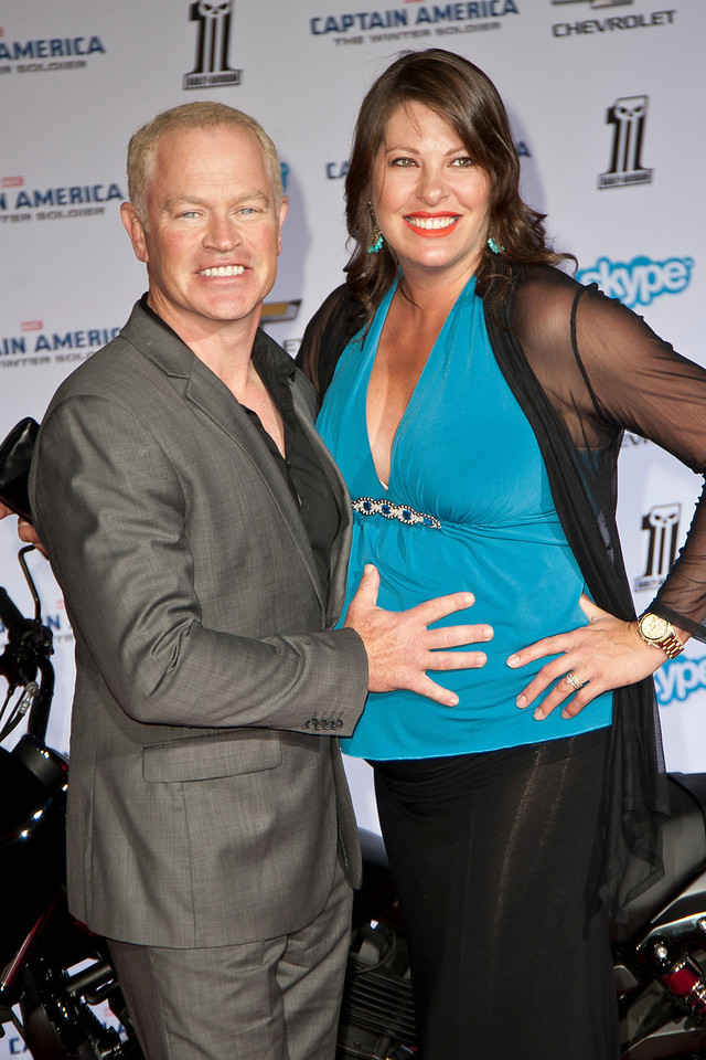 HOLLYWOOD, CA - MARCH 13: Actor Neal McDonough (L) and wife Ruve arrive at Marvel's 'Captain America: The Winter Soldier' premiere at the El Capitan Theatre onThursday,  March 13, 2014 in Hollywood, California. (Photo by Tom Sorensen/Moovieboy Pictures)