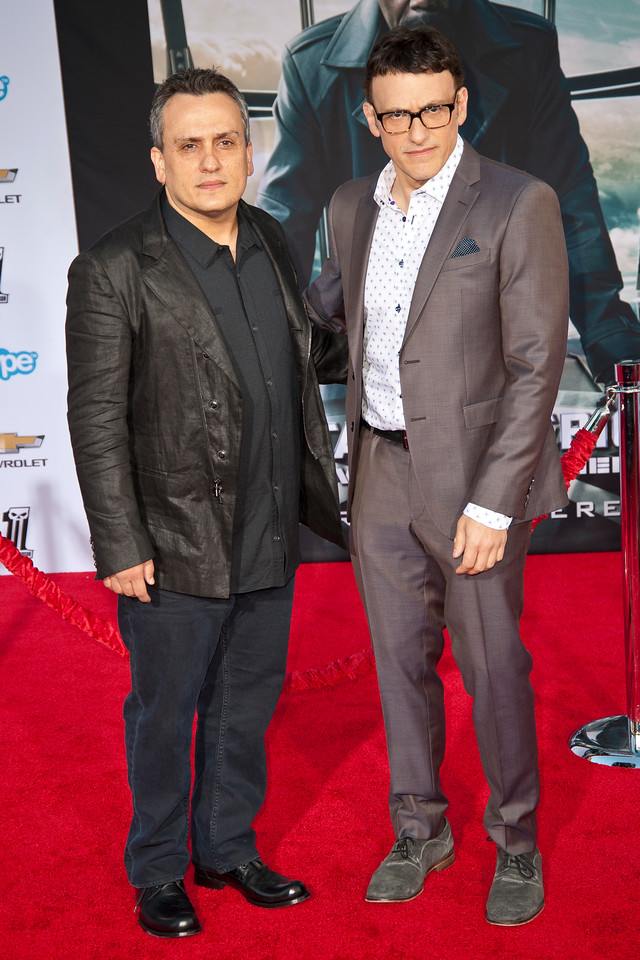 HOLLYWOOD, CA - MARCH 13: Directors and brothers Anthony (R) and Joe Russo arrive at Marvel's 'Captain America: The Winter Soldier' premiere at the El Capitan Theatre onThursday,  March 13, 2014 in Hollywood, California. (Photo by Tom Sorensen/Moovieboy Pictures)
