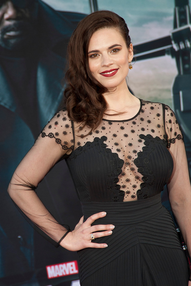 HOLLYWOOD, CA - MARCH 13: Actress Hayley Atwell arrives at Marvel's 'Captain America: The Winter Soldier' premiere at the El Capitan Theatre onThursday,  March 13, 2014 in Hollywood, California. (Photo by Tom Sorensen/Moovieboy Pictures)