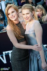 LOS ANGELES, CA - MARCH 18: Actresses Bella Thorne and Claudia Lee arrive at the premiere of Summit Entertainment's 'Divergent' at the Regency Bruin Theatre on Tuesday, March 18, 2014 in Los Angeles, California. (Photo by Tom Sorensen/Moovieboy Pictures)
