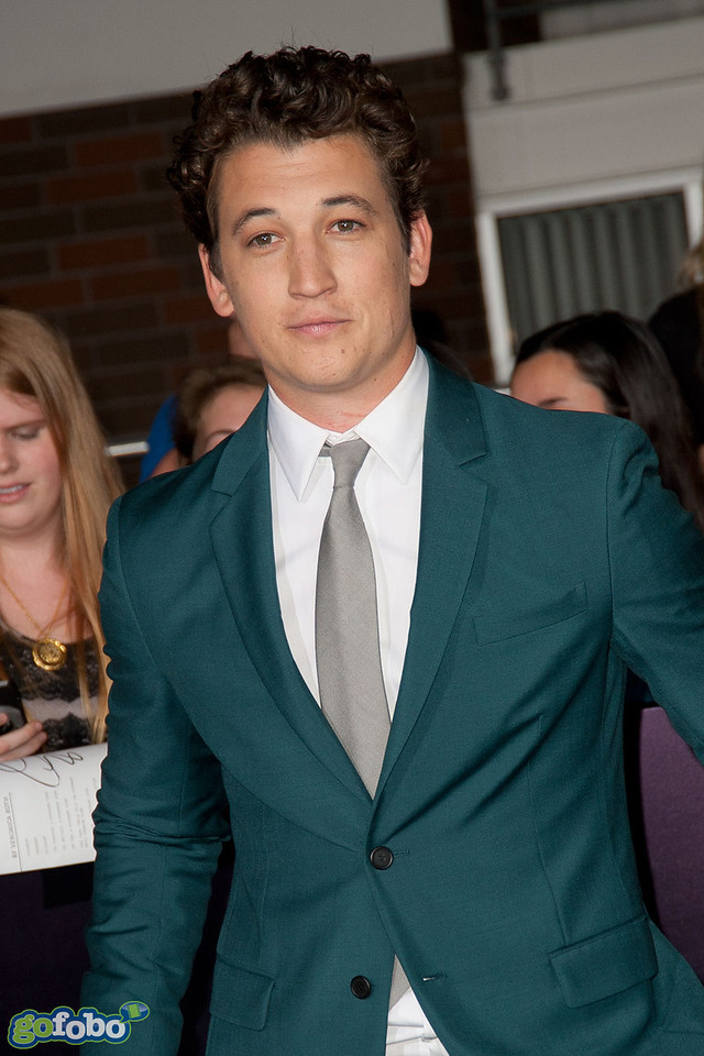 LOS ANGELES, CA - MARCH 18: Actor Miles Teller arrives at the premiere of Summit Entertainment's 'Divergent' at the Regency Bruin Theatre on Tuesday, March 18, 2014 in Los Angeles, California. (Photo by Tom Sorensen/Moovieboy Pictures)
