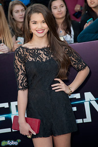 LOS ANGELES, CA - MARCH 18: Actress Paris Berelc arrives at the premiere of Summit Entertainment's 'Divergent' at the Regency Bruin Theatre on Tuesday, March 18, 2014 in Los Angeles, California. (Photo by Tom Sorensen/Moovieboy Pictures)
