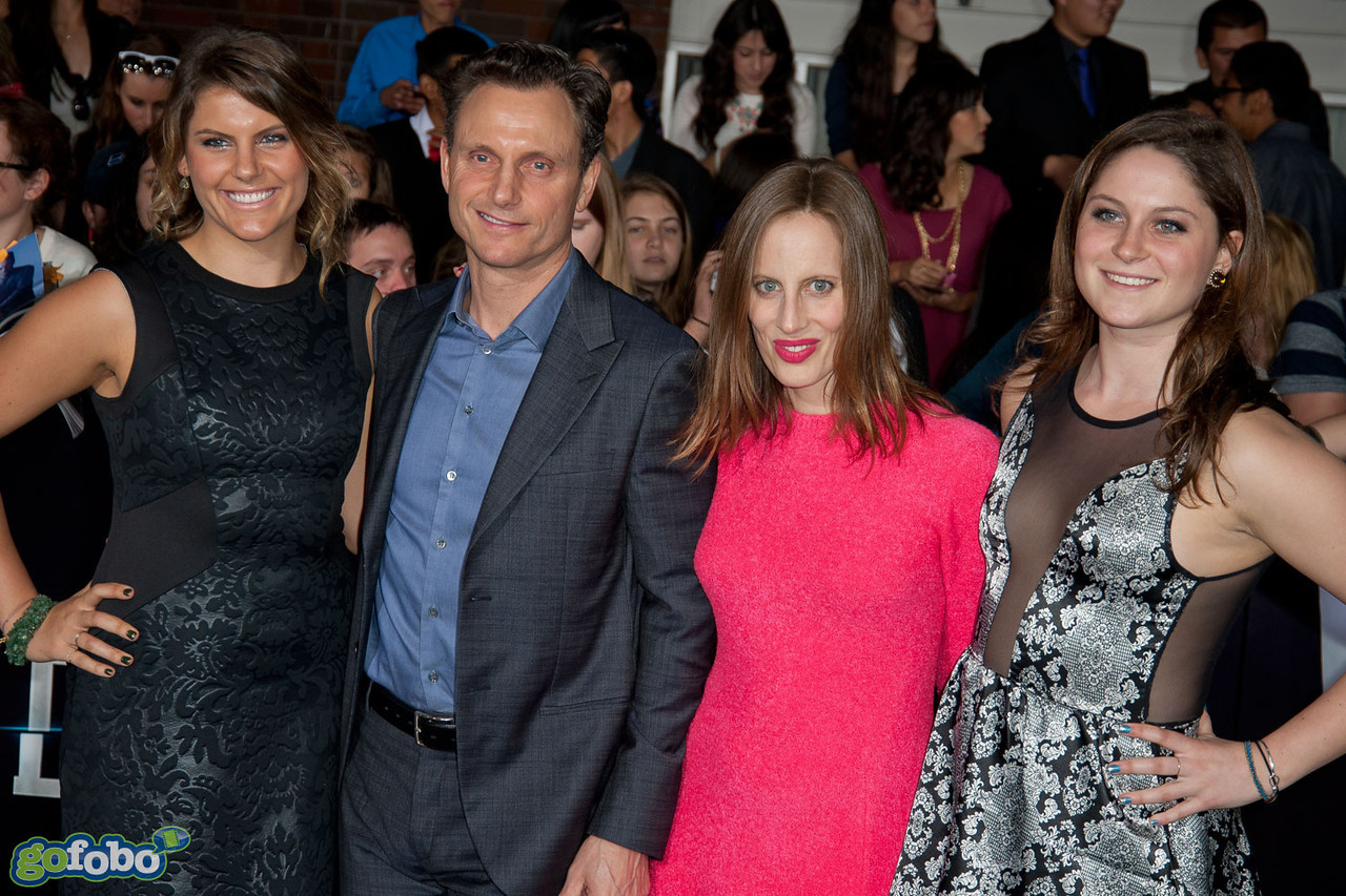 LOS ANGELES, CA - MARCH 18: Actor Tony Goldwyn (2nd), filmmaker Liz Goldwyn (3rd) and guests arrive at the premiere of Summit Entertainment's 'Divergent' at the Regency Bruin Theatre on Tuesday, March 18, 2014 in Los Angeles, California. (Photo by Tom Sorensen/Moovieboy Pictures)