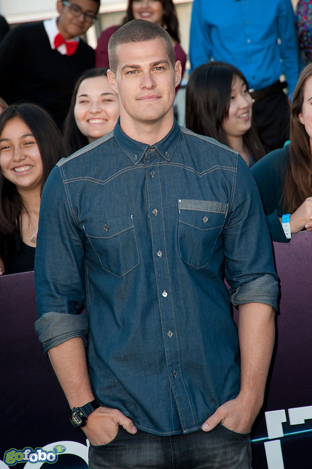LOS ANGELES, CA - MARCH 18: Actor Greg Finley arrives at the premiere of Summit Entertainment's 'Divergent' at the Regency Bruin Theatre on Tuesday, March 18, 2014 in Los Angeles, California. (Photo by Tom Sorensen/Moovieboy Pictures)