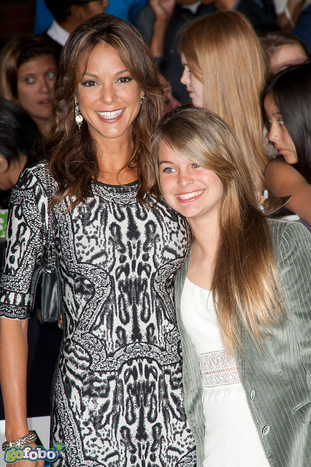 LOS ANGELES, CA - MARCH 18: Actress Eva LaRue and daughter Kaya McKenna Callahan arrive at the premiere of Summit Entertainment's 'Divergent' at the Regency Bruin Theatre on Tuesday, March 18, 2014 in Los Angeles, California. (Photo by Tom Sorensen/Moovieboy Pictures)