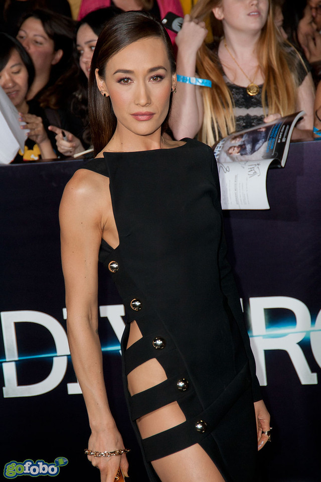 LOS ANGELES, CA - MARCH 18: Actress Maggie Q arrives at the premiere of Summit Entertainment's 'Divergent' at the Regency Bruin Theatre on Tuesday, March 18, 2014 in Los Angeles, California. (Photo by Tom Sorensen/Moovieboy Pictures)