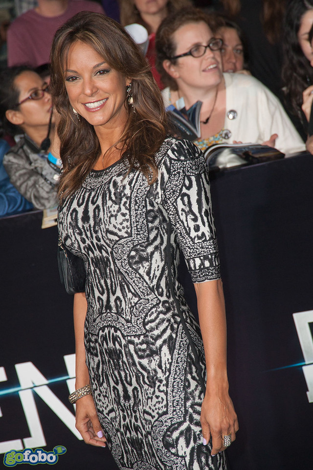 LOS ANGELES, CA - MARCH 18: Actress Eva LaRue arrives at the premiere of Summit Entertainment's 'Divergent' at the Regency Bruin Theatre on Tuesday, March 18, 2014 in Los Angeles, California. (Photo by Tom Sorensen/Moovieboy Pictures)