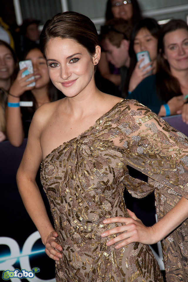 LOS ANGELES, CA - MARCH 18: Actress Shailene Woodley arrives at the premiere of Summit Entertainment's 'Divergent' at the Regency Bruin Theatre on Tuesday, March 18, 2014 in Los Angeles, California. (Photo by Tom Sorensen/Moovieboy Pictures)