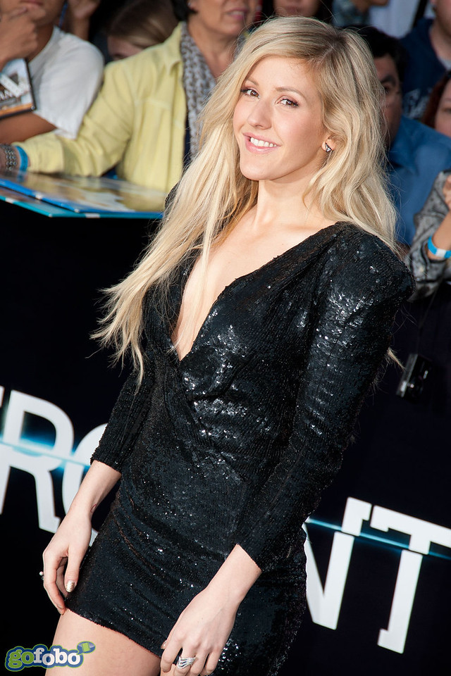 LOS ANGELES, CA - MARCH 18: Singer Ellie Goulding arrives at the premiere of Summit Entertainment's 'Divergent' at the Regency Bruin Theatre on Tuesday, March 18, 2014 in Los Angeles, California. (Photo by Tom Sorensen/Moovieboy Pictures)