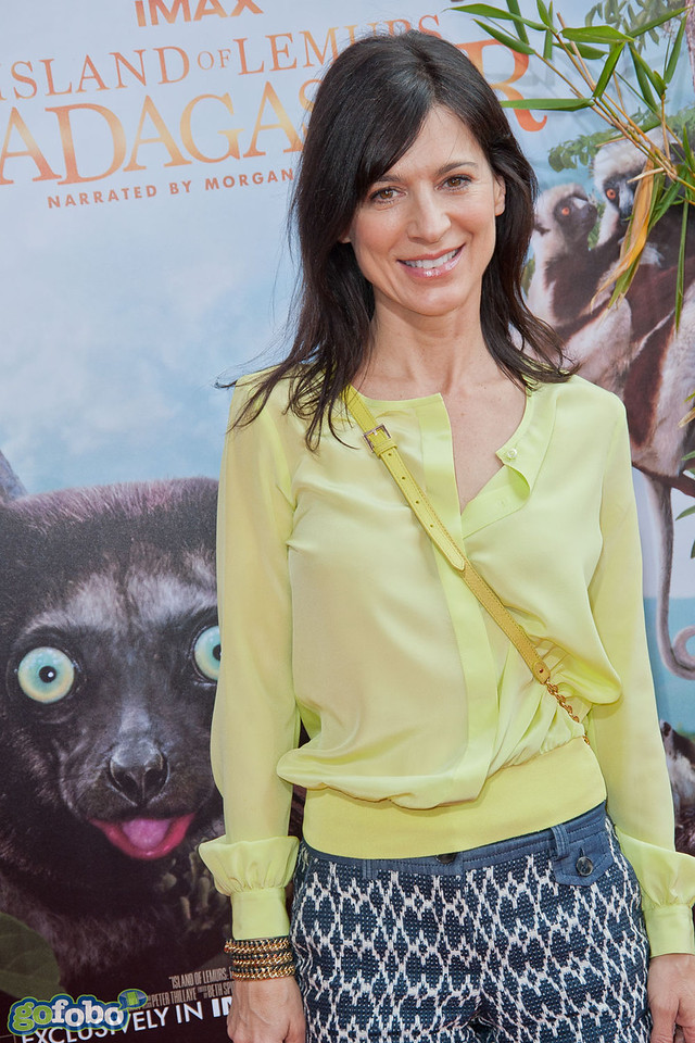 LOS ANGELES, CA - MARCH 29: Actress Perrey Reeves arrives at the premiere of 'Island Of Lemurs: Madagascar' at California Science Center on Saturday, March 29, 2014 in Los Angeles, California. (Photo by Tom Sorensen/Moovieboy Pictures)