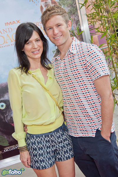 LOS ANGELES, CA - MARCH 29: Actress Perrey Reeves and guest arrive at the premiere of 'Island Of Lemurs: Madagascar' at California Science Center on Saturday, March 29, 2014 in Los Angeles, California. (Photo by Tom Sorensen/Moovieboy Pictures)