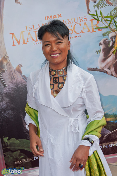 LOS ANGELES, CA - MARCH 29: Vocalist Hanitrarivo Rasoanaivo arrives at the premiere of 'Island Of Lemurs: Madagascar' at California Science Center on Saturday, March 29, 2014 in Los Angeles, California. (Photo by Tom Sorensen/Moovieboy Pictures)