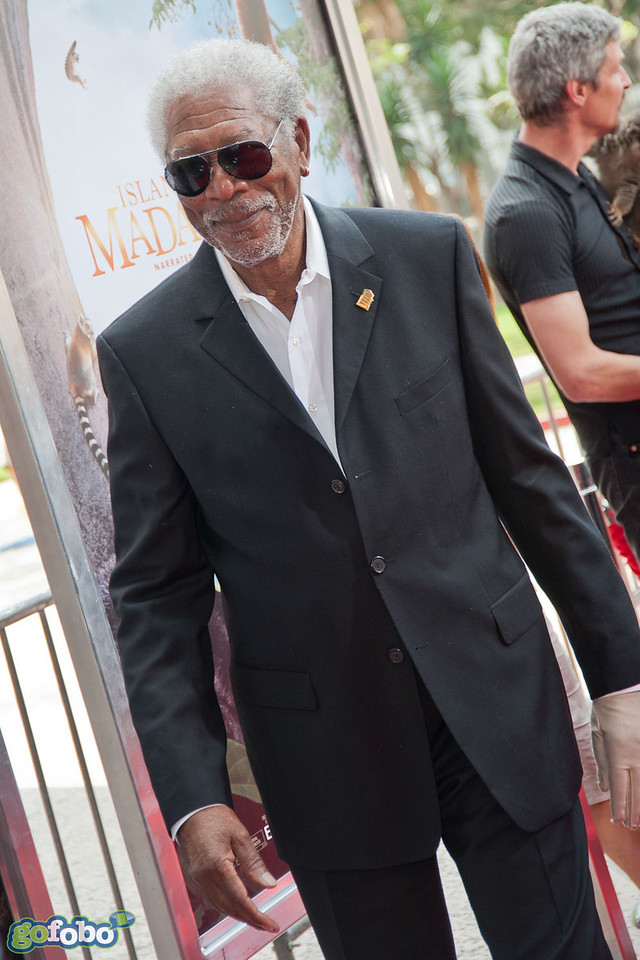 LOS ANGELES, CA - MARCH 29: Actor Morgan Freeman arrives at the premiere of 'Island Of Lemurs: Madagascar' at California Science Center on Saturday, March 29, 2014 in Los Angeles, California. (Photo by Tom Sorensen/Moovieboy Pictures)