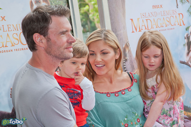 LOS ANGELES, CA - MARCH 29: Actors Scott Foley (L) and Marika Dominczyk arrive at the premiere of 'Island Of Lemurs: Madagascar' at California Science Center on Saturday, March 29, 2014 in Los Angeles, California. (Photo by Tom Sorensen/Moovieboy Pictures)