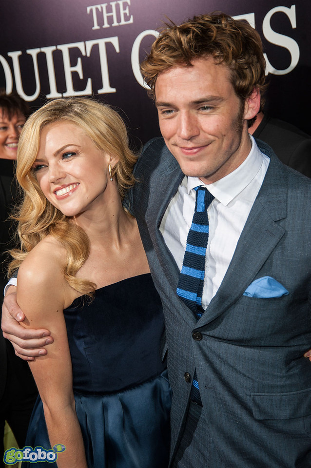 LOS ANGELES, CA - APRIL 22: Actors Erin Richards and Sam Claflin arrive at the premiere of Lionsgate Films' 'The Quiet Ones' at The Theatre At Ace Hotel on Tuesday April 22, 2014 in Los Angeles, California. (Photo by Tom Sorensen/Moovieboy Pictures)
