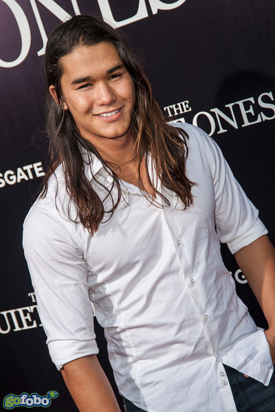 LOS ANGELES, CA - APRIL 22: Actor Booboo Stewart arrives at the premiere of Lionsgate Films' 'The Quiet Ones' at The Theatre At Ace Hotel on Tuesday April 22, 2014 in Los Angeles, California. (Photo by Tom Sorensen/Moovieboy Pictures)