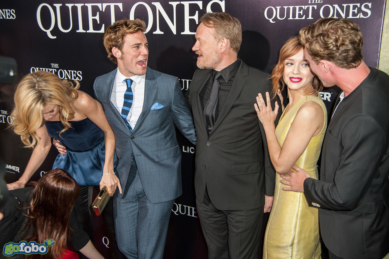 LOS ANGELES, CA - APRIL 22: Actors Erin Richards, Sam Claflin, Jared Harris, Olivia Cooke and Rory Fleck-Byrne arrive at the premiere of Lionsgate Films' 'The Quiet Ones' at The Theatre At Ace Hotel on Tuesday April 22, 2014 in Los Angeles, California. (Photo by Tom Sorensen/Moovieboy Pictures)
