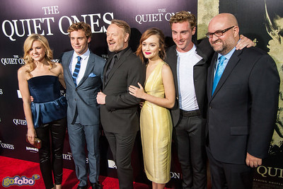 LOS ANGELES, CA - APRIL 22: Actors Erin Richards, Sam Claflin, Jared Harris, Olivia Cooke, Rory Fleck-Byrne and director John Pogue arrive at the premiere of Lionsgate Films' 'The Quiet Ones' at The Theatre At Ace Hotel on Tuesday April 22, 2014 in Los Angeles, California. (Photo by Tom Sorensen/Moovieboy Pictures)