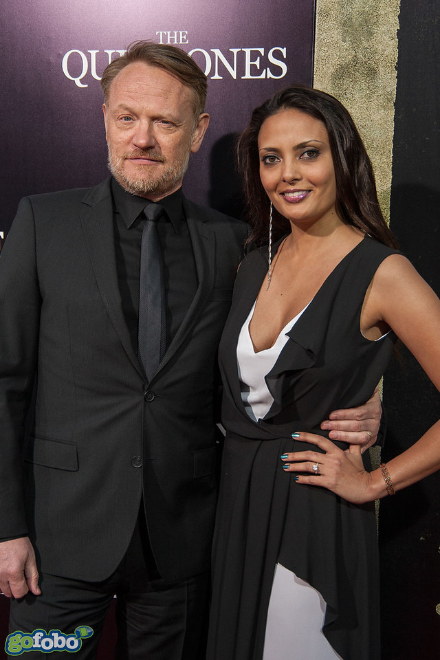 LOS ANGELES, CA - APRIL 22: Jared Harris (L) and Allegra Riggio arrive at the premiere of Lionsgate Films' 'The Quiet Ones' at The Theatre At Ace Hotel on Tuesday April 22, 2014 in Los Angeles, California. (Photo by Tom Sorensen/Moovieboy Pictures)