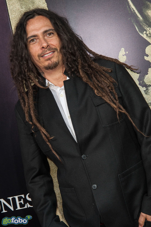 LOS ANGELES, CA - APRIL 22: James Shaffer aka Munky of the band KORN arrives at the premiere of Lionsgate Films' 'The Quiet Ones' at The Theatre At Ace Hotel on Tuesday April 22, 2014 in Los Angeles, California. (Photo by Tom Sorensen/Moovieboy Pictures)