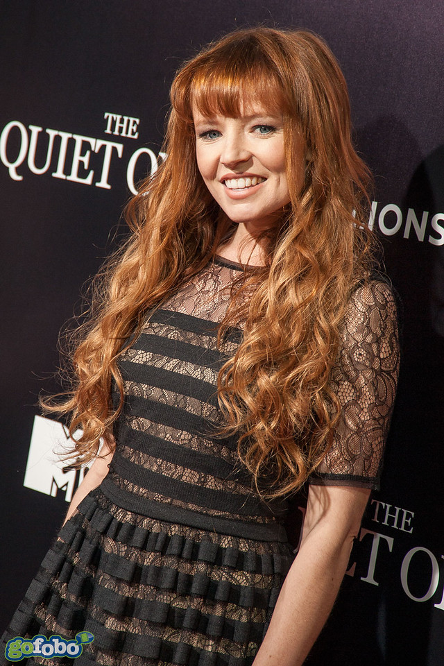 LOS ANGELES, CA - APRIL 22: Actress Stef Dawson arrives at the premiere of Lionsgate Films' 'The Quiet Ones' at The Theatre At Ace Hotel on Tuesday April 22, 2014 in Los Angeles, California. (Photo by Tom Sorensen/Moovieboy Pictures)