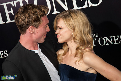LOS ANGELES, CA - APRIL 22: Actors Rory Fleck-Byrne and Erin Richards arrive at the premiere of Lionsgate Films' 'The Quiet Ones' at The Theatre At Ace Hotel on Tuesday April 22, 2014 in Los Angeles, California. (Photo by Tom Sorensen/Moovieboy Pictures)