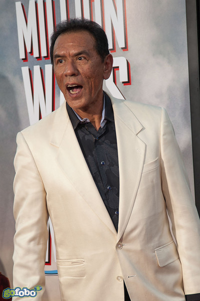 WESTWOOD, CA - MAY 15: Actor Wes Studi arrives at the premiere of Universal Pictures and MRC's 'A Million Ways To Die In The West' at Regency Village Theatre on Thursday May 15, 2014 in Westwood, California. (Photo by Tom Sorensen/Moovieboy Pictures)