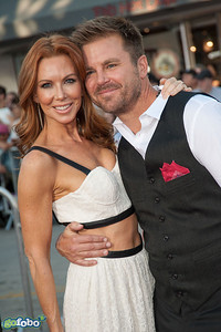 WESTWOOD, CA - MAY 15: Actors Aaron McPherson (R) and Challen Cates arrive at the premiere of Universal Pictures and MRC's 'A Million Ways To Die In The West' at Regency Village Theatre on Thursday May 15, 2014 in Westwood, California. (Photo by Tom Sorensen/Moovieboy Pictures)