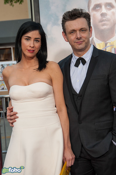 WESTWOOD, CA - MAY 15: Actors Sarah Silverman and Michael Sheen arrive at the premiere of Universal Pictures and MRC's 'A Million Ways To Die In The West' at Regency Village Theatre on Thursday May 15, 2014 in Westwood, California. (Photo by Tom Sorensen/Moovieboy Pictures)