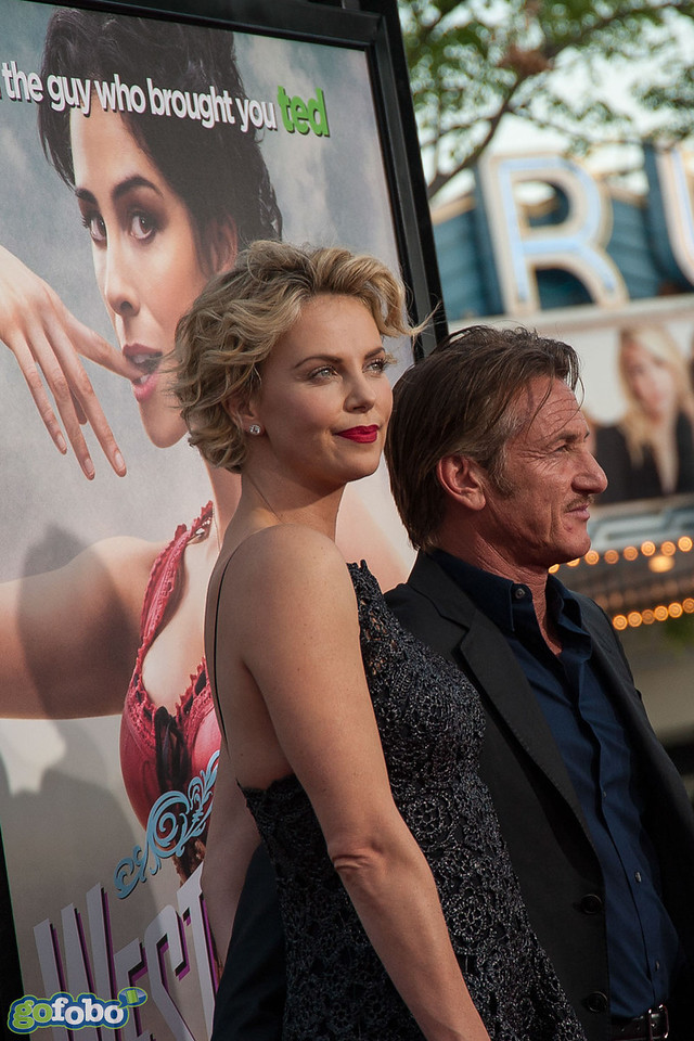 WESTWOOD, CA - MAY 15: Actors Charlize Theron, Sean Penn, Sarah Silverman and Michael Sheen arrive at the premiere of Universal Pictures and MRC's 'A Million Ways To Die In The West' at Regency Village Theatre on Thursday May 15, 2014 in Westwood, California. (Photo by Tom Sorensen/Moovieboy Pictures)
