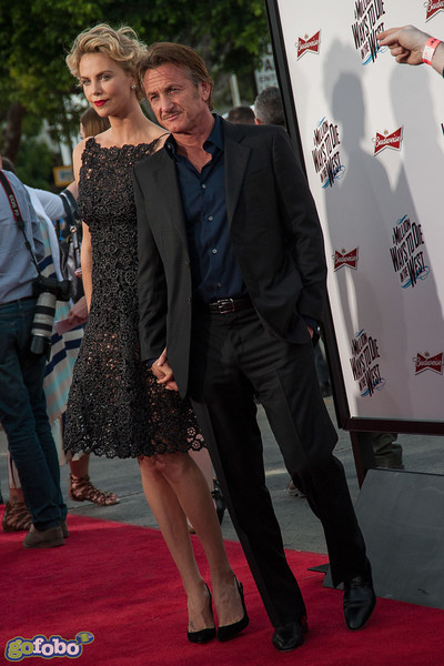 WESTWOOD, CA - MAY 15: Actors Charlize Theron and Sean Penn arrive at the premiere of Universal Pictures and MRC's 'A Million Ways To Die In The West' at Regency Village Theatre on Thursday May 15, 2014 in Westwood, California. (Photo by Tom Sorensen/Moovieboy Pictures)