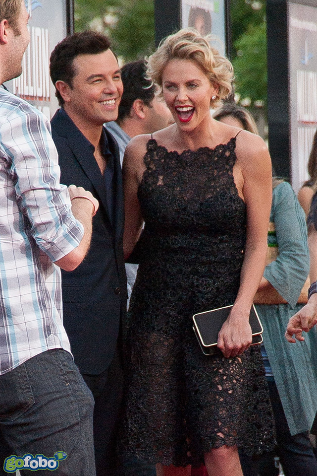 WESTWOOD, CA - MAY 15: Director Seth MacFarlane and actress Charlize Theron arrive at the premiere of Universal Pictures and MRC's 'A Million Ways To Die In The West' at Regency Village Theatre on Thursday May 15, 2014 in Westwood, California. (Photo by Tom Sorensen/Moovieboy Pictures)