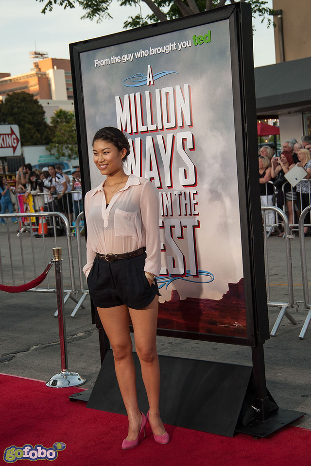 WESTWOOD, CA - MAY 15: Actress Catherine Shu arrives at the premiere of Universal Pictures and MRC's 'A Million Ways To Die In The West' at Regency Village Theatre on Thursday May 15, 2014 in Westwood, California. (Photo by Tom Sorensen/Moovieboy Pictures)