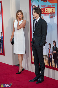 HOLLYWOOD, CA - MAY 21: Actress Brenda Strong and son, actor Zak Henri arrive at the Los Angeles premiere of 'Blended' at TCL Chinese Theatre on Wednesday May 21, 2014 in Hollywood, California. (Photo by Tom Sorensen/Moovieboy Pictures)