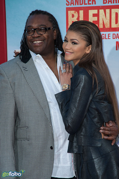 HOLLYWOOD, CA - MAY 21: Actress Zendaya and dad Kazembe Ajamu Coleman arrive at the Los Angeles premiere of 'Blended' at TCL Chinese Theatre on Wednesday May 21, 2014 in Hollywood, California. (Photo by Tom Sorensen/Moovieboy Pictures)