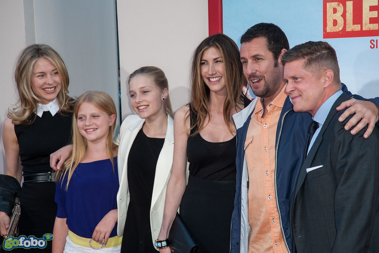 HOLLYWOOD, CA - MAY 21: Actor Adam Sandler , Jackie Sandler (C) and guests arrive at the Los Angeles premiere of 'Blended' at TCL Chinese Theatre on Wednesday May 21, 2014 in Hollywood, California. (Photo by Tom Sorensen/Moovieboy Pictures)