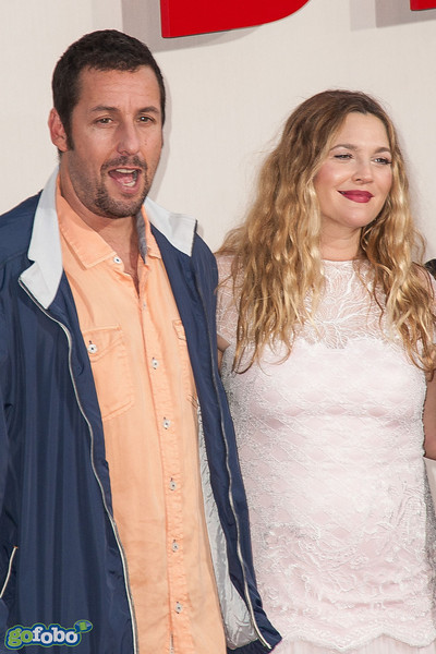 HOLLYWOOD, CA - MAY 21: Actors Adam Sandler (L) and Drew Barrymore arrive at the Los Angeles premiere of 'Blended' at TCL Chinese Theatre on Wednesday May 21, 2014 in Hollywood, California. (Photo by Tom Sorensen/Moovieboy Pictures)