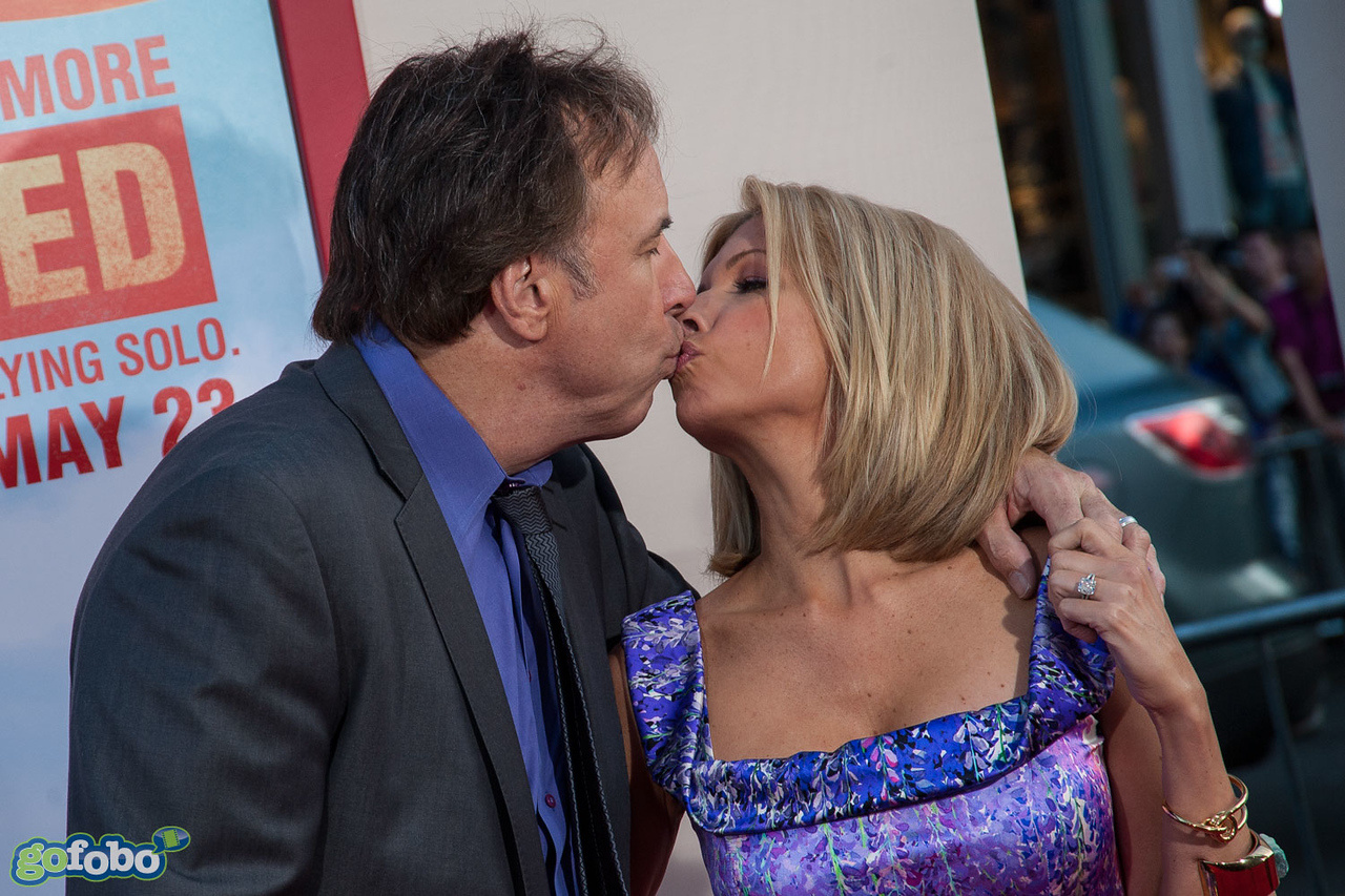 HOLLYWOOD, CA - MAY 21: Actor Kevin Nealon (L) and wife actress Susan Yeagley arrive at the Los Angeles premiere of 'Blended' at TCL Chinese Theatre on Wednesday May 21, 2014 in Hollywood, California. (Photo by Tom Sorensen/Moovieboy Pictures)