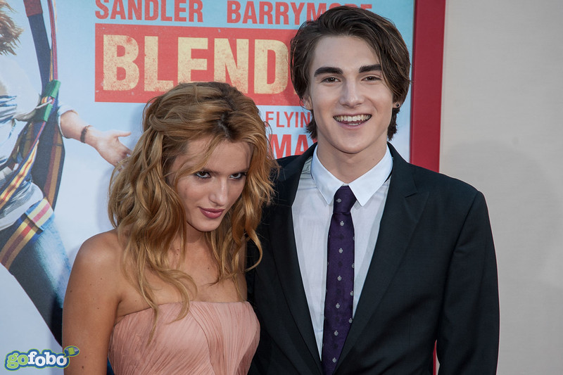 HOLLYWOOD, CA - MAY 21: Actors Bella Thorne and Zak Henri arrive at the Los Angeles premiere of 'Blended' at TCL Chinese Theatre on Wednesday May 21, 2014 in Hollywood, California. (Photo by Tom Sorensen/Moovieboy Pictures)