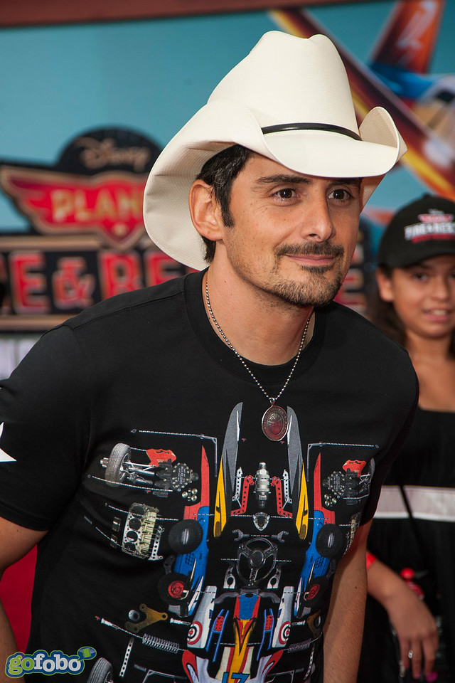 HOLLYWOOD, CA - JULY 15: (L-R) Recording artist Brad Paisley attends the premiere of Disney's 'Planes: Fire & Rescue' at the El Capitan Theatre on Tuesday July 15, 2014 in Hollywood, California. (Photo by Tom Sorensen/Moovieboy Pictures)