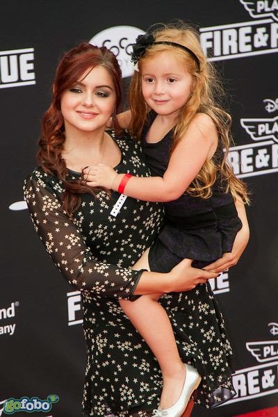HOLLYWOOD, CA - JULY 15: Actress Ariel Winters (L) and her niece Skyler Gray attend the premiere of Disney's 'Planes: Fire & Rescue' at the El Capitan Theatre on Tuesday July 15, 2014 in Hollywood, California. (Photo by Tom Sorensen/Moovieboy Pictures)